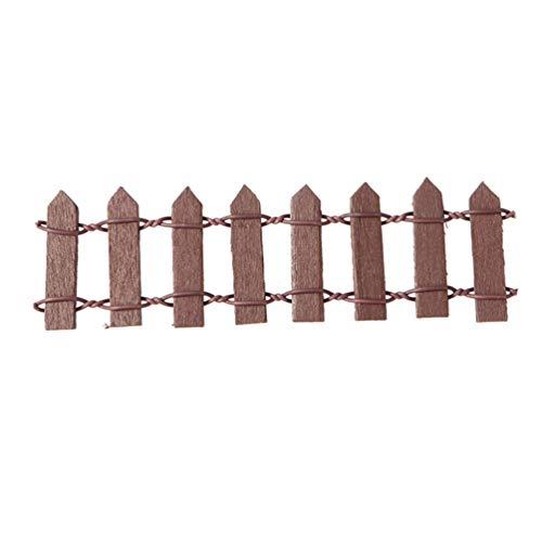 HEALLILY Giardino di Fata in Miniatura Steccato in Legno Mini Ornamento Accessorio Micro-Paesaggio...