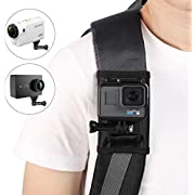 Taisioner Backpack Strap Knapsack Shoulder Mount Fixed Holder Improvement for GoPro Hero 3 4 5 6 7 Black/Fusion/Session/Polaroid/Xiaoyi/SJCAM/Sony Action Camera Accessory (Semicircle)