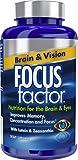 Focus Factor Brain & Vision - Eye Vitamin & Mineral Supplement w/Lutein and...