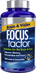 IMPROVE MEMORY, FOCUS & VISION: Focus Factor supplements contain a powerful combination of nutrients shown to significantly improve cognition and support healthy vision* HEALTHY EYES: Formulated with Specialized Eye Nutrients - Contains 15 mg of Lute...