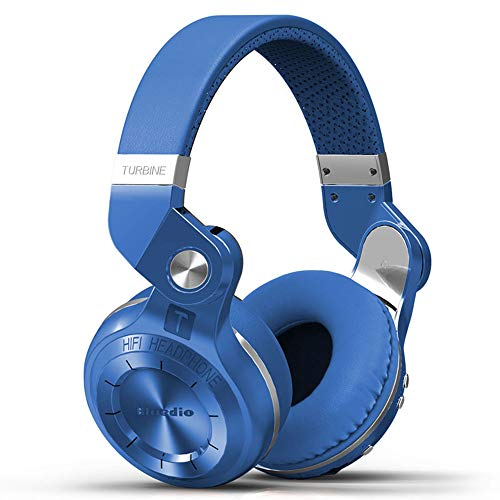 Q&N Bluetooth 5.0 Kopfhörer Turbine Kopfhörer Stereo Wireless Headsets mit Mikrofon (Rot/Schwarz/Blau/Weiß),Blau