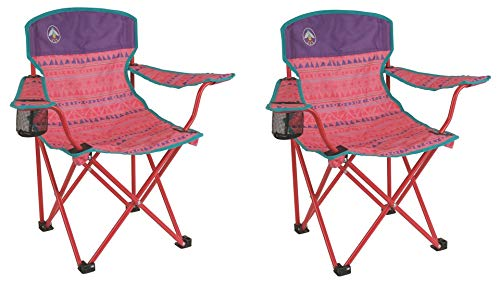 Youth Quad Chair, Pink 2 Set