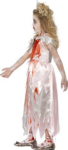 SMIFFYS Costume Zombie Principessa Addormentata, Rosa, comprende Abito e Dettaglio Stamp