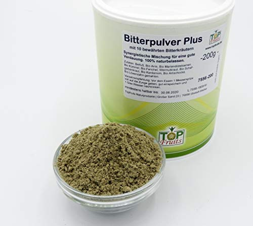 Topfruits Bitterpulver Plus Bitterglück, 200g, aus 10 Bitterkräutern - vegan und glutenfrei