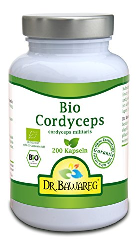 BIO-Cordyceps militaris - 200 Vegi-Kapseln je 400mg Fruchtpulver, kein Extrakt - Dr. Bawareg