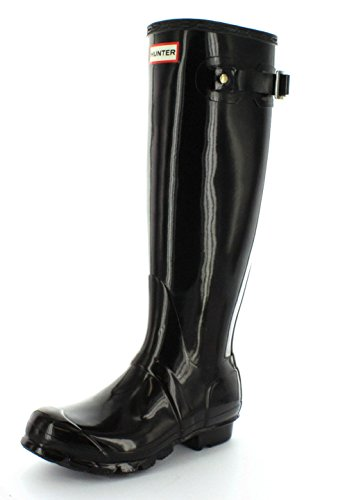 Hunters Original Tall Gloss, Botas altas Mujer, Negro (Black), 38