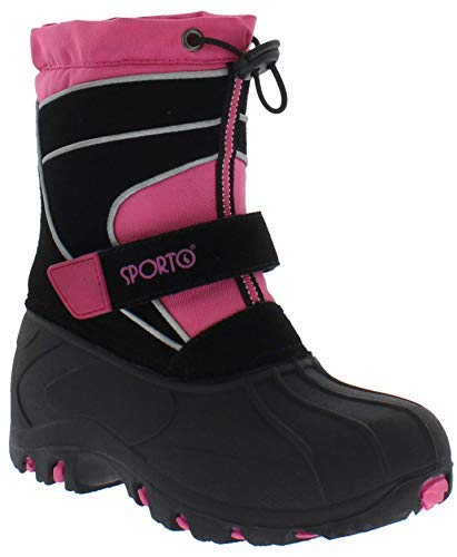 sporto Boys and Girls Blizzard Snow Boot, Pink, 2 M US