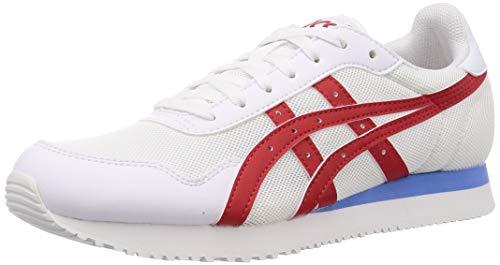 ASICS Mens Tiger Runner Sneaker, White/Classic Red, 47 EU
