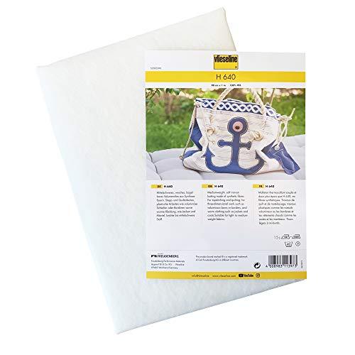 Vlieseline H 640 Bügeleinlage, Weiß, 90 cm x 1 M
