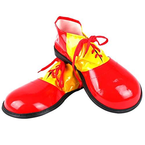 ZOYLINK Christmas Clown Schuhe Große Phantasie Kostüm Schuhe Clown Kostüm Versorgung für Erwachsene