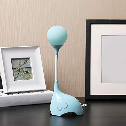 SGWH/Creative mooie led-bureaulamp in olifantenvorm, duurzaam, dimbaar, met USB-poort, touch-schakelaar voor decoratie van kinderen, slaapkamer, kantoor, kantoor