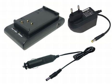 PowerSmart® 230V AC (Input), 12V-1A (Output) Ladegerät Netzteil + Kfz-Anschlusskabel für Sharp VL-E VL-H VL-HL VL-MX VL-N Serien BT-70, BT-70BK, BT-80, BT-80BK, BT-80SBK, BT-BH70, VR-BH70
