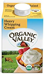 Organic Valley, Organic Heavy Whipping Cream, Ultra Pasteurized, Pint, 16 oz