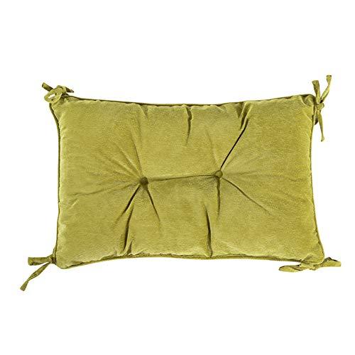 PICTURESQUE Cojines de Cintura Gruesa de Oficina Comedor Patio Exterior Almohada de Cintura 30cm x 43cm Verde