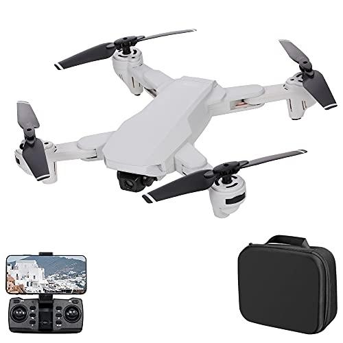 skrskr S103 Drone RC con Fotocamera 4K 5G WiFi GPS Posizionamento del Flusso Ottico Pieghevole Quadricottero RC con modalità Senza Testa Waypoint Segui modalità Surround