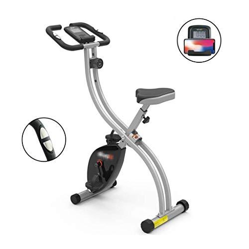 Fitness Stepper Fitness Fahrrad Haushalt Elliptische Maschine Folding Spinnerei Fahrrad Stilles Übungsfahrrad Magnetsteuerfitnessgeräte Ausdauertraining (Color : Silver, Size : 83 * 42 * 120cm)