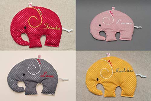 Wärmekissen mit Namen: Elefant verschiedene Farben