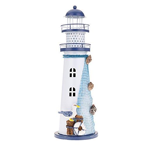 HuntGold Handgemacht Mediterrane Nautisch Farbwechsel LED Leuchtturm Laternenlicht Groß L