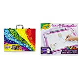 Crayola Inspiration Art Case Coloring Set, Easter Gift for Kids, 140 Art Supplies & Light Up Tracing Pad Pink, Easter Gifts for Girls & Boys, Age 6, 7, 8, 9