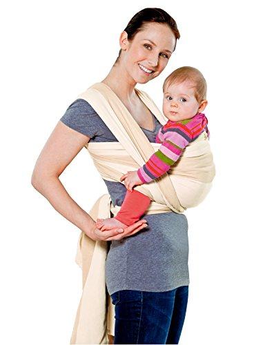 AMAZONAS Babytragetuch Carry Sling Kalahari 510 cm 0-3 Jahre bis 15 kg in Beige
