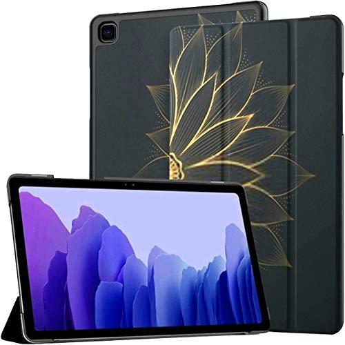 Hülle für Samsung Galaxy Tab A7 10,4-Zoll-Tablet 2020 (sm-t500 / t505 / t507), Vintage Gold Flower Zusammenfassung Mandala Line Mehrwinkel-Standabdeckung mit Auto Wake/Sleep