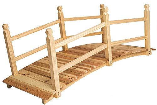 Gartenbrücke Teichbrücke Holz Braise 140cm lang,Wood color