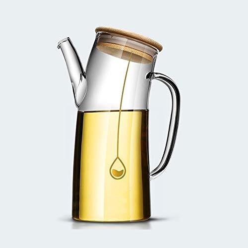 YUZZZKUNHCZ yh botella de aceite, olla de aceite hogar cocina a prueba de fugas de vidrio comestible botella de aceite de gran capacidad a prueba de fugas vinagre olla familia condimento botella