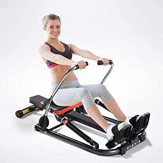 GENKI Rowing Machine 12 Adjustable Resistance Levels Fitness Home Training Workout Rower Equipment