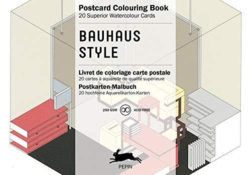 Bauhaus Style: Postcard Colouring Book / Postkarten - Malbuch (Postcard Colouring Books)