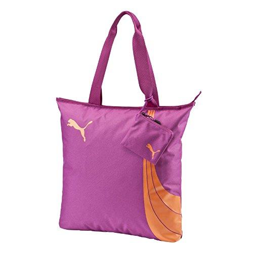 Puma Fundamentals Shopper Borsa, Viola/Arancione, Taglia Unica