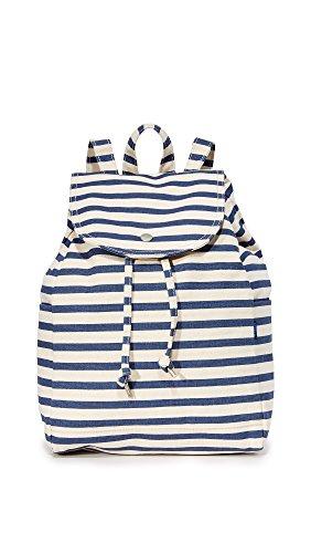 BAGGU Women's Drawstring Backpack, Sailor Stripe, One Size