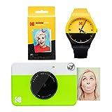 Kodak PRINTOMATIC Paquete de reloj de cámara de impresión instantánea (verde)
