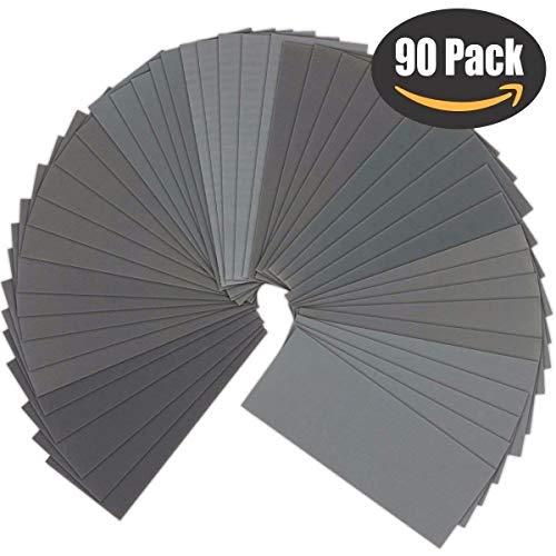 2500 2000 Paquete De 10 seco y húmedo de papel de lija grados 1500 3000