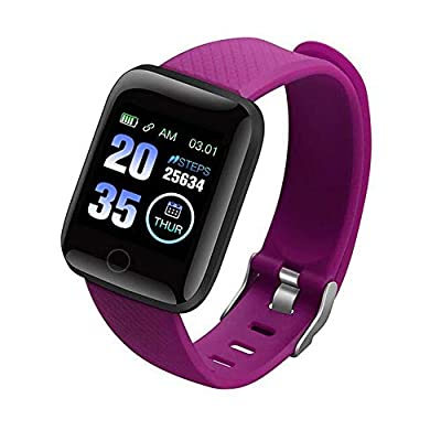 Smart Watch, Fitness Tracker with Heart Rate Monitor, Activity Tracker with 1.3 Inch Touch Screen, IP67 Waterproof Pedometer Smartwatch with Sleep Monitor (Purple)