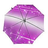 Purple StarryAutomatic Sombrilla de Tres Pliegues Sombrilla Sombrilla Sombrilla