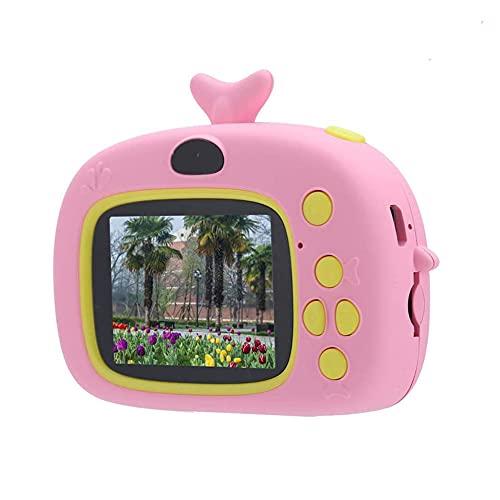Tastak Cámara de Juguete para niños, videocámara con cámara para niños DV Digital de Dibujos Animados Divertido de Juguete portátil con Pantalla de 2'y cámara Dual, Modo de Etiqueta de Varias Fotos,