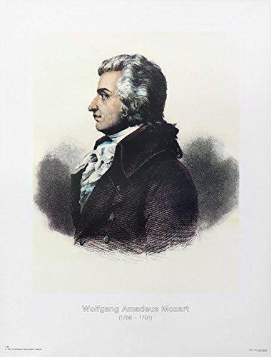 Wolfgang Amadeus Mozart: Vierfarbdruck des Gemäldes von Joseph Lange aus der Zeit 1782/1783 (Poster und Bildtafeln)