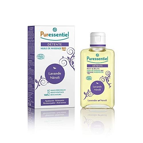 Puressentiel - Sommeil Détente - Huile de Massage aux 6 Huiles Essentielles - Lavande et Néroli -...