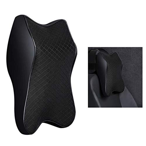 Autositz Kopfstütze Nackenstütze Kissen 3D Memory Foam Weiche atmungsaktive Car Seat Headrest Neck Rest Cushion Foam Soft Breathable Seat Headrest Pad Neck Rest Headrest Accessories (Schwarz, klein)