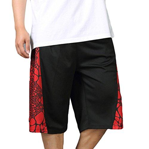 YiLianDa Verano Hombre Bermuda Casual Cintura Elástica Pantalones Cortos Deportivos Baloncesto Shorts 3XL