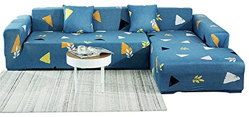 BEYRFCTA Sofa Cover, Stretch Sofa Slipcover, L-Shaped Sofa Cover, Non Slip Couch Sofa Cover Suitable For Children, Pets-Blue_s (90-140),