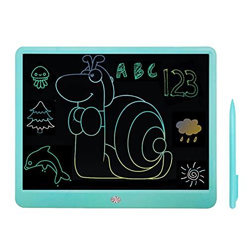 Tableta de Escritura LCD, Tableta Escritura LCD 15 Pulgadas, Tableta de Escritura, Tablet de Dibujo, Tablero de Garabatos de Dibujo con Gráficos Borrables Coloridos per Familia Oficina de la Escuela