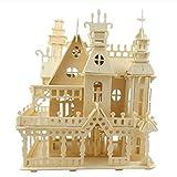 NAOZHONGa 3D Cadeaux de Bricolage pour Enfants Enfants modèle Victorien matériaux de Construction Paquet Maison de poupée éducation à la Main château en Bois