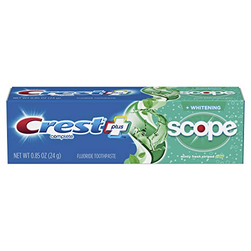 Crest Complete Whitening Plus Scope Minty Fresh Toothpaste .85 Ounce (12 Pack) | Fights Cavities and Freshens Breath for Clean Teeth| Travel Size Fluoride Paste (B07NBV4QWN)