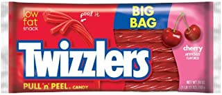 TWIZZLERS Pull 'n' Peel Licorice Candy Cherry 28 Ounce Big Bag (Pack of 4) [並行輸入品]