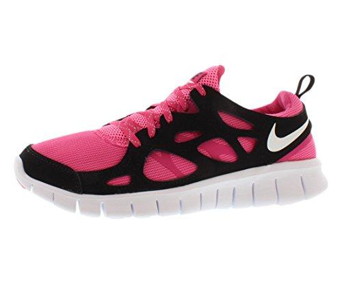 Nike Schuhe Free Run 2 Le (GS) Vivid Pink-White-Pink Glow-Black (644404-600) 36,5 Pink