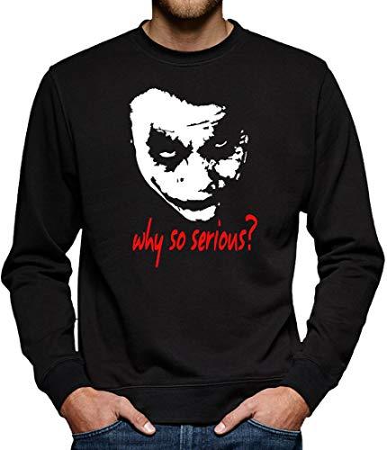 Joker Why so Serious? Sweatshirt Pullover Herren XL Schwarz