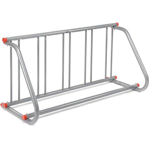Global Industrial 61-5/8'L Grid Bike Rack, Single Sided, Powder Coated Galvanized Steel, 5-Bike Capacity