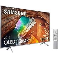 """Samsung QLED 4K 2019 65Q64R - Smart TV de 65"""" con Resolución 4K UHD, Supreme Ultra Dimming, Q HDR, Inteligencia Artificial 4K, Diseño Metalico, Premium One Remote, Apple TV y compatible con Alexa"""