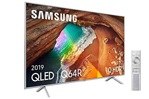 "Samsung QLED 4K 2019 65Q64R - Smart TV de 65"" con Resolución 4K UHD, Supreme Ultra Dimming, Q HDR, Inteligencia Artificial 4K, Diseño Metalico, Premium One Remote, Apple TV y Compatible con Alexa"